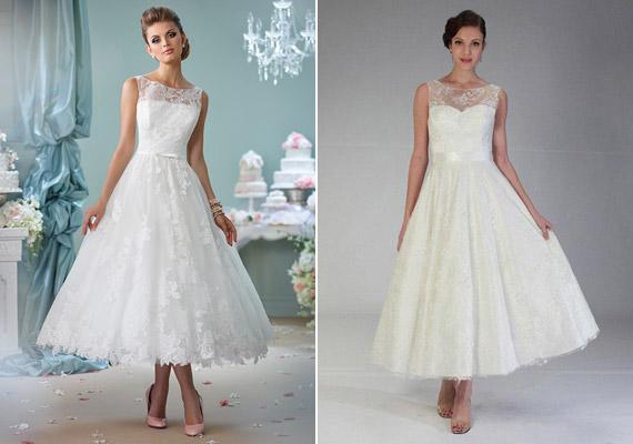 cc2ae3f1b0 Retikül.hu - Midi esküvői ruhák: szebbek, mint a földig érő szoknya?