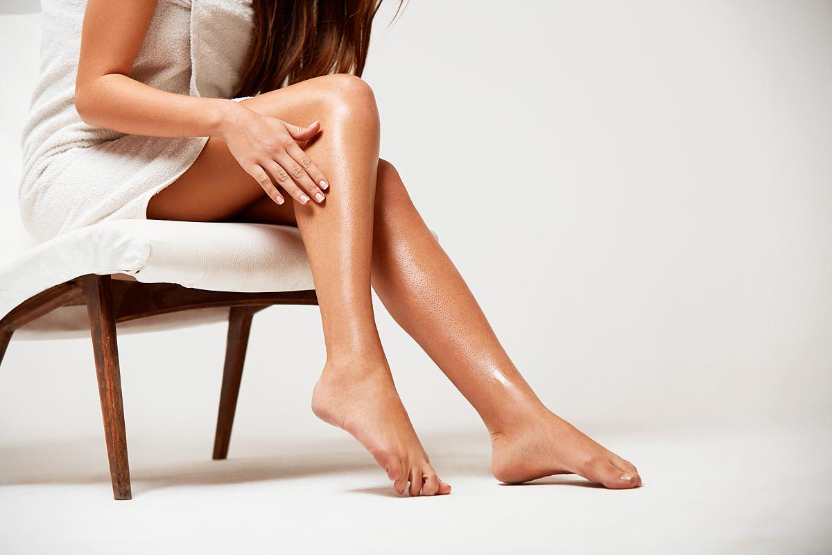 vörös foltos lábak az epilátor után