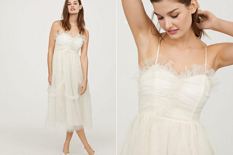 bcbefb909c Retikül.hu - Gyönyörű, tavaszias fehér ruhák: nem kell esküvői ...