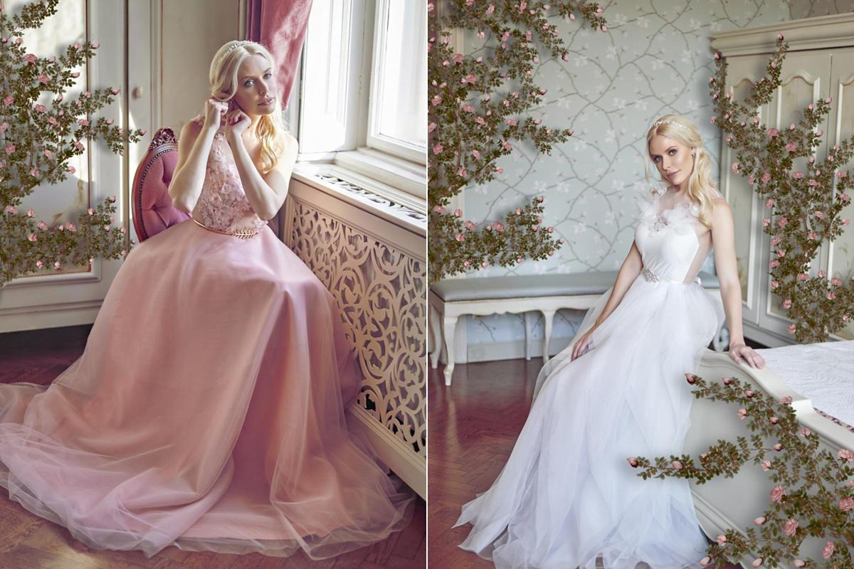 c38be9dd35 Romantikus, leheletfinom esküvői ruhák, magyar tervezőtől: álomszép  virágdíszítéssel
